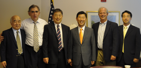 Harim Chairman Kim and colleagues meet with NCC staff.
